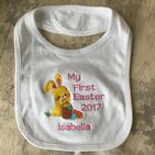 Personalised Easter Bunny Babies Bib 2020 - My First Easter